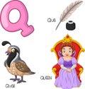 Cartoon Q alphabet