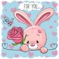 Cartoon Rabbit with flower