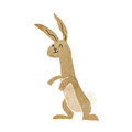 Cartoon rabbit retro with texture isolated on white Royalty Free Stock Photography