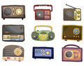 Cartoon radio icon Royalty Free Stock Photo