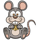 Cartoon rat with cheese vector illustration of Royalty Free Stock Photography