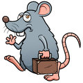 Cartoon rat get out vector illustration of Royalty Free Stock Photo