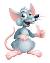 Cartoon rat illustration of a cute happy character Stock Image
