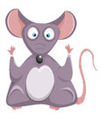 Cartoon rat. Mouse. Royalty Free Stock Photography