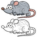 Cartoon rat vector illustration of Royalty Free Stock Photo