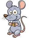 Cartoon rat vector illustration of Royalty Free Stock Photography