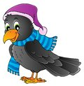 Cartoon raven theme image 1 Stock Photography