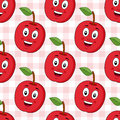 Cartoon Red Apple Seamless Pattern Royalty Free Stock Photo