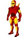 Cartoon red humanoid robot illustration of Royalty Free Stock Photo