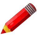 Cartoon red pencil eps vector image of a wooden on a white background Royalty Free Stock Photography