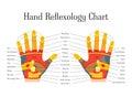 Cartoon Reflexology Hands Alternative Medicine. Vector