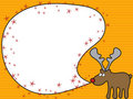 Cartoon reindeer greeting Stock Photo