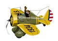 Cartoon Retro Fighter Plane
