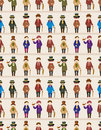 Cartoon retro gentleman seamless pattern Royalty Free Stock Images