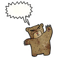 Cartoon roaring bear Royalty Free Stock Photography