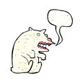 Cartoon roaring polar bear Royalty Free Stock Image