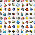 Cartoon robot face seamless pattern Royalty Free Stock Photos