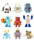 Cartoon robot icon Stock Photo