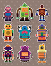Cartoon robot sticers Stock Images