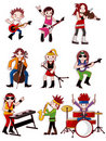 Cartoon rock band icon Royalty Free Stock Images