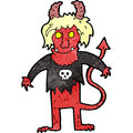 Cartoon rock devil Royalty Free Stock Photos