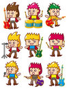 Cartoon rock music band icon Stock Images