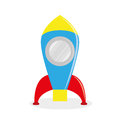 Cartoon rocket isolated on white background vector Royalty Free Stock Photo