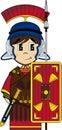 Cartoon Roman Centurion Soldier