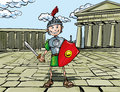 Cartoon Roman Legionary Royalty Free Stock Photo