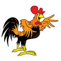 Cartoon Rooster Royalty Free Stock Images
