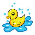 Cartoon rubber duck Royalty Free Stock Images