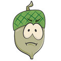 Cartoon Sad Acorn Stock Photos