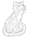 Cartoon safari coloring page illustration for the children happy and colorful Stock Image
