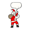 Cartoon santa Royalty Free Stock Photo