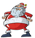 Cartoon Santa with a big belly Stock Photo