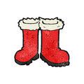 Cartoon santa claus boots Royalty Free Stock Image