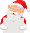 Cartoon Santa holding blank sign Royalty Free Stock Photo