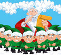 Cartoon Santa with a white beard Royalty Free Stock Image