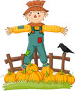 Cartoon scarecrow character Royalty Free Stock Photo