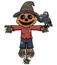 Cartoon scarecrow Royalty Free Stock Photo