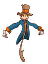 Cartoon Scarecrow. Royalty Free Stock Photo