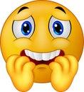 Cartoon Scared emoticon smiley Royalty Free Stock Photo