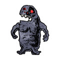 Cartoon scary monster Royalty Free Stock Photo