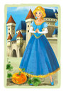 Cartoon scene princess - framed Royalty Free Stock Photo
