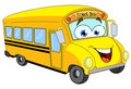 Cartoon school bus Stock Images