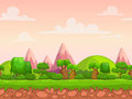 Cartoon Seamless Nature Landsc...