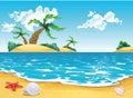 Cartoon seascape Stock Image