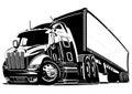 Cartoon semi truck Royalty Free Stock Photo