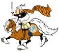 Cartoon senior knight Royalty Free Stock Photo