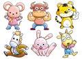 Cartoon set 039 Stock Photos